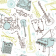 Music seamless pattern - Stock Vector