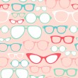Retro Seamless spectacles — Stockvectorbeeld