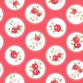 Vintage rose patrón — Vector de stock