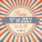 День независимости открытка в стиле винтаж — Cтоковый вектор