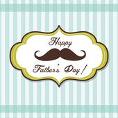 Happy Father day background with fancy mustache, retro style — Vettoriale Stock