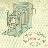A gentleman camera — Stock Vector