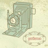 Une caméra de gentilhomme — Vecteur
