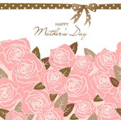 Mother Day card — Stock Vector