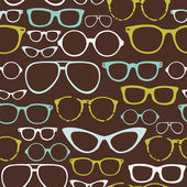 Retro Seamless spectacles — Stockvector