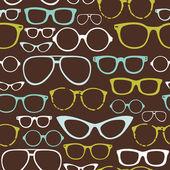 Retro naadloze bril — Stockvector