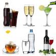 Beverages collage - Stock Photo