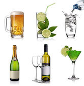 Beverages collage — Stock Photo