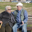 Stock Photo: Happy elderly couple in love