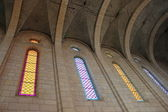 Windows in catholic cathedral — Stock Photo