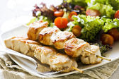 Chicken Skewers Meal — Stock Photo