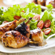 Barbecue Chicken Legs Meal — Stock Photo #11057380