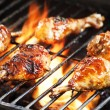 Royalty-Free Stock Photo: Chicken Legs On The Grill