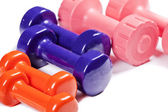 Colorful Gym Weights — Stock Photo