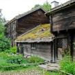 Stock Photo: Old ecological swedish cabin