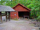 Red cabin in Skansen — Stock Photo