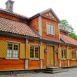 Swedish yellow and red cabin — Stock Photo