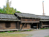 Old swedish ecological cabin — Stock Photo