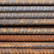 Rusty Rebar Rods Metallic Pattern — Stock Photo #12254642