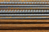 Metal Texture Pattern of Rusty Rebars — Stock Photo