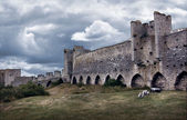 Medieval city wall defence — Stock Photo