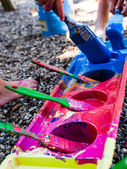 Kids painting — Stock Photo