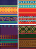 Design de frontière de sari — Vecteur