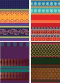 Progettazione di confine sari — Vettoriale Stock