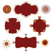 Quadros de henna — Foto Stock