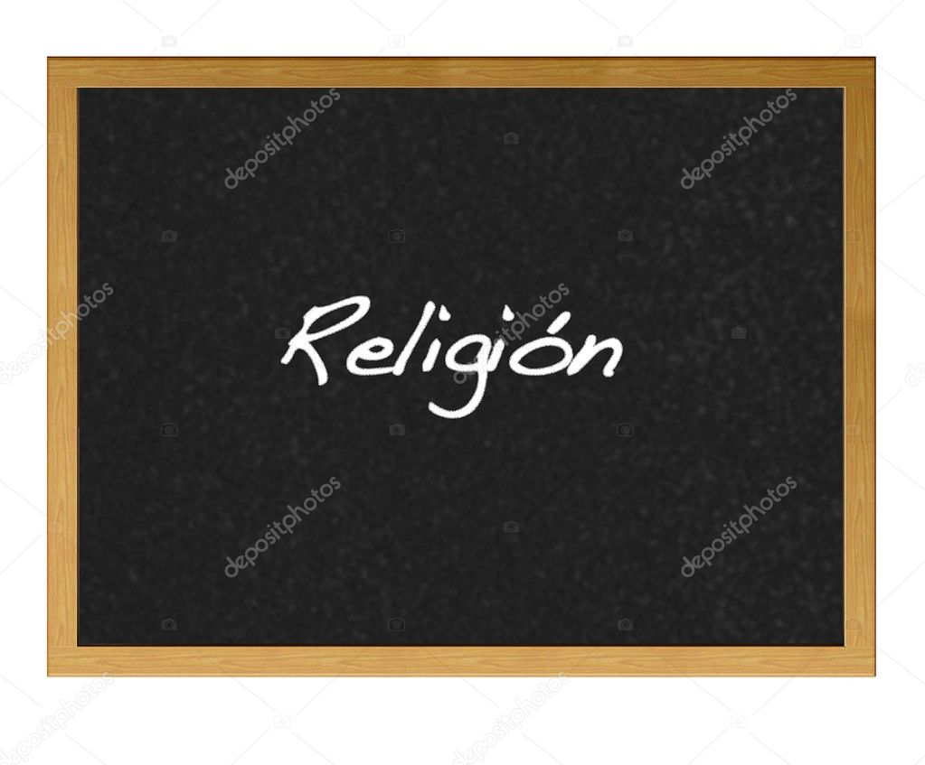 Isolated blackboard with Religin.  Stock Photo #10771698
