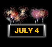 July 4. — Stock Photo