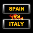 Spain vs Italy. — Stock Photo