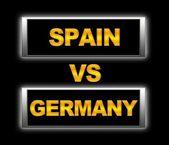 Spain vs Germany. — Stock Photo