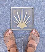 Pilgrimage to Santiago. — Stock Photo