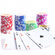 Poker chips isolated. - Stock Photo