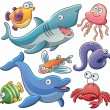Sea Animals Collection — Stock Vector #11128420