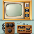 Stock Vector: Vintage Electronics