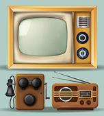 Vintage Electronics — Stock Vector