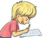 Boy Studying — 图库矢量图片