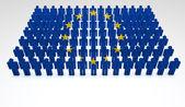 Desfile da união europeia — Foto Stock