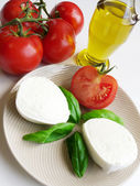 Tomatoes And Mozzarella — Stock Photo