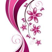 Flowers. Background. Vector Eps10 Illustration. — Stock Vector