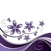 Flowers. Background. Vector Eps10 Illustration. — Vector de stock