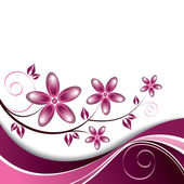 Flowers. Background. Vector Eps10 Illustration. — Wektor stockowy
