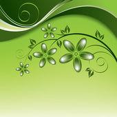 Flowers. Background. Vector Eps10 Illustration. — Vector de stock