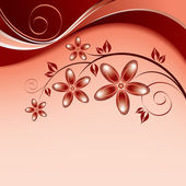 Flowers. Background. Vector Eps10 Illustration. — Cтоковый вектор