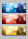 Set of Three Banners. Abstract Vector Headers. Eps10 Format. — Stock Vector
