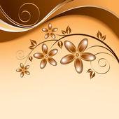 Astratto sfondo floreale. illustrazione astratta. — Vettoriale Stock