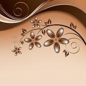 Abstrakt floral bakgrund. abstrakt illustration. — Stockvektor