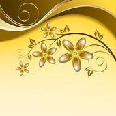 抽象的な花の背景。抽象イラスト. — ストックベクタ